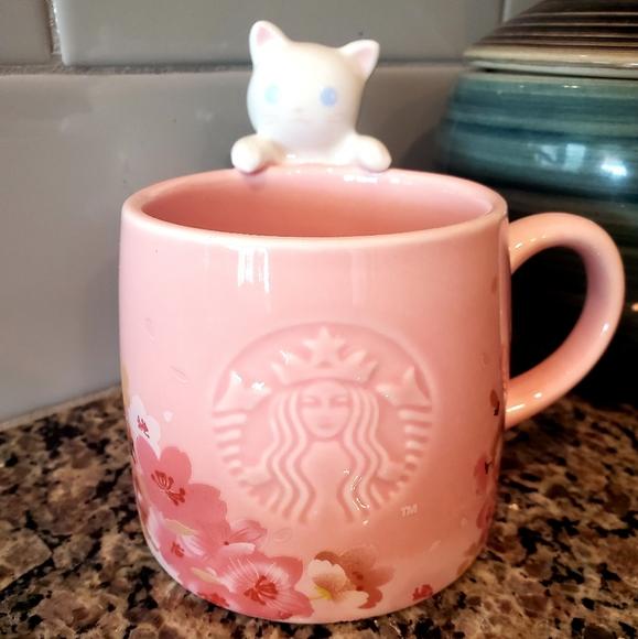 Starbucks Sakura Cat Mug